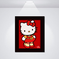 Hello Kitty Hearts Red Dress - Adorable - Instant Download