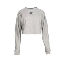 Nike Women's Air Crew Cropped Sweatshirt Heather Grey