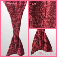SALE Mermaid Tail Blanket - 3 Sizes available! Baby to Toddler, Child, & Adult Sizes, Christmas Gift, Adult Mermaid Tail Blanket, Snuggie