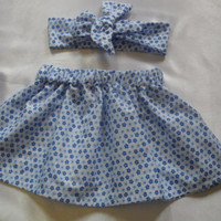 Baby's Skirt and Headwrap Cute Baby Set Floral Print Baby Girls Clothes
