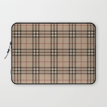 Burberry plaid Designer pattern Laptop Sleeve by All Is One