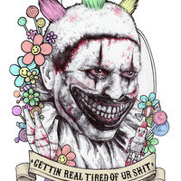 xoxo Twisty (color) Art Print by Marziiporn