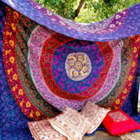 Large Indian Mandala Hippie Wall Hanging Tapestry , 70.8x 57.4 in