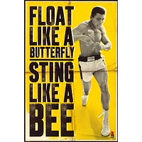 Muhammad Ali Float Like A Butterfly Poster 24x36