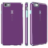 Speck Products CandyShell Case for iPhone 6 Plus/6S Plus - Retail Packaging-Acai Purple/Aloe Green