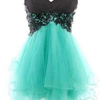 Charming Lace Ball Gown Sweetheart Mini Prom Dress from prom 2013
