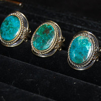 Turquoise and Silver Vintage Rings