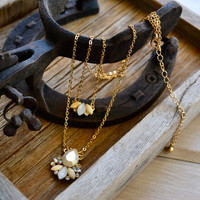 Honey Suckle Layered Necklace