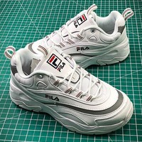 Folder x FILA Ray White Grey Fashion Sneakers - Best Online Sale