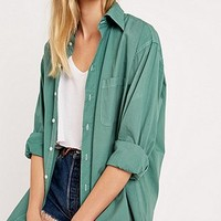 Urban Renewal Vintage Customised Washed Out Shirt in Green - Urban Outfitters