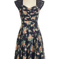 ModCloth Vintage Inspired Sleeveless A-line Put a Bard on It Dress