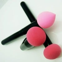 New From Cheeky, Set of 3 Pro Beauty Flawless Makeup Blender / Makeup Sponge / and Sponge Brush / Foundation Puff. Multi Shape Makeup Sponges for Your Cosmetics Needs.