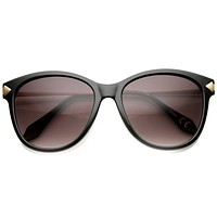 Women's Designer Cat Eye Sunglasses With Metal Temples 9836