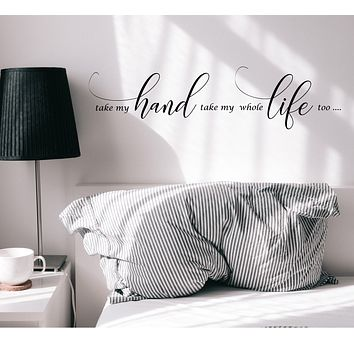 Vinyl Wall Decal Romantic Love Family Quote Words Bedroom Art Stickers Mural 35 in x 8.5 in gz301