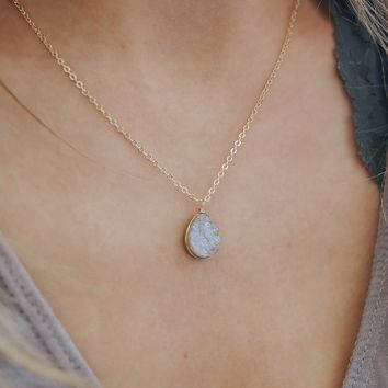 Downtown Druzy Necklace