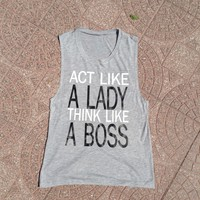 A Lady & A Boss Muscle Tank