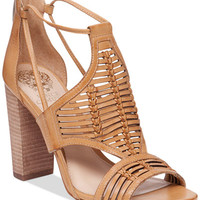 Vince Camuto Ceara Huarache Block-Heel Dress Sandals - All Women's Shoes - Shoes - Macy's