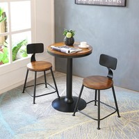 Bar Chairs and Table and Iron Luxurious Style High Stool Stool Chair Set Dining Table Chair