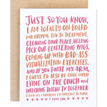 friendship through cancer card