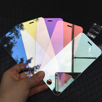 Mirror Tempered Glass Screen Protector For Apple iPhone 6 6s / 6s Plus 9H Premium Full Cove Colorful Protective Film Guard