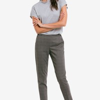 Slim Back Elastic Cropped Pants