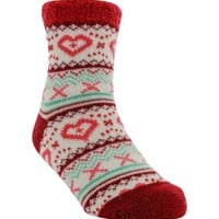 Yaktrax Youth Cozy Cabin Heart Crew Sock | DICK'S Sporting Goods