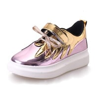 Gold Silver Creepers Platform Shoes