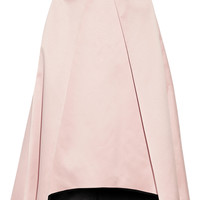 Milly - Pleated bonded satin skirt