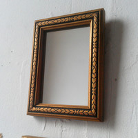 Ornate Mirror Set of Three in Miniature Antique Wood Frames