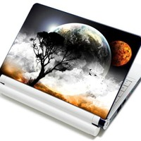 """Meffort Inc® 15 15.6 Inch Laptop Notebook Skin Sticker Cover Art Decal - Fits 13.3"""" 14"""" 15"""" 16"""" HP Dell Lenovo Asus Compaq Asus Acer Computers (Free Wrist Pad) (Planet Mars View)"""