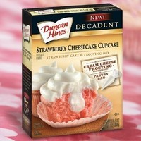 Duncan Hines Decadent Cupcake & Frosting Mix - Strawberry Cheesecake & Cream Cheese - 19.4 oz - 2 pk
