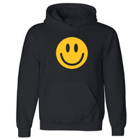 "Zexpa Apparelâ""¢ Happy Smiley Face Unisex Hoodie Funny Cool Graphic Print Hooded Sweatshirt"