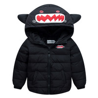 Winter Children Garments Boy Girl Warm Down Coat   black   110cm