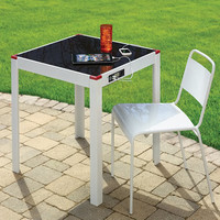The Device Charging Patio Table - Hammacher Schlemmer
