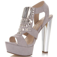 Parker Grey Embellished Heel - View All  - New In