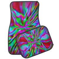 Red Fire Radiance car mats set of 4 from TheElementalHome* on Zazzle