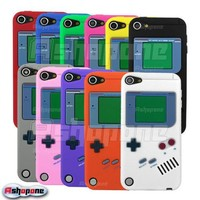 Retro Nintendo Gameboy Silicone Case Cover Skin for Apple iPod Touch 5 5G 5th