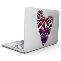 Vivid Colorful Chevron Water Heart - MacBook Pro with Touch Bar Skin Kit
