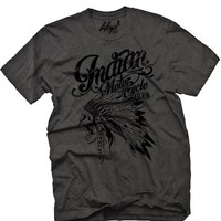 """Men's """"Indian Motorcycle Club"""" Tee by Fifty5 Clothing (Black Pigment)"""