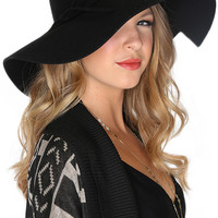 Lily Wool Hat - Black - One
