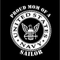 US Navy Proud Mom Proud Dad Vinyl Decal car truck auto vehicle window custom sticker United States Navy Sailor Military decal