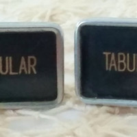Silver Tabular Cuff Links, Men's Jewelry, Typewriter Key Cuff links, Vintage Tabular Keys, Cuff Links, Mens Cuff Links, Gift Idea for Man
