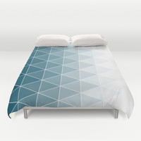 Triangle Pattern Duvet Cover by Dale J Cheetham