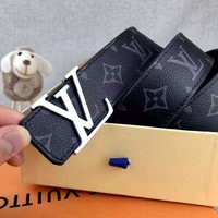 LV simple letter buckle belt