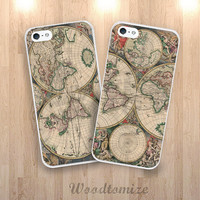 Vintage Retro old world map phone case for Sony Xperia z, z1, z1s, z2, z3, z3 compact, Moto G, Moto G2, Moto x, Moto x2, Moto E (N46)