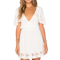 MINKPINK White Shadows Dress in Off White