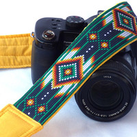 Native American Camera Strap (inspired). Canon Nikon Camera Strap. SLR, DSLR Camera Strap. Gift For Photographer. Christmas Gift. EtsyGifts