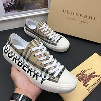 BURBERRY Men Fashion Boots fashionable Casual leather Breathable Sneakers Running Shoes-72