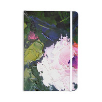 """Carol Schiff """"Textured Pink Rose"""" Green Painting Everything Notebook"""