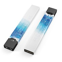 Faded Blue Watercolor Strokes - Premium Decal Protective Skin-Wrap Sticker compatible with the Juul Labs vaping device